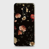 OnePlus 7Cover - Dark Rose Vintage Flowers Printed Hard Case with Life Time Colors Guarantee