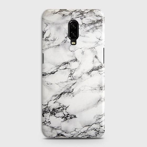 Trendy White Floor Marble Case For OnePlus 7