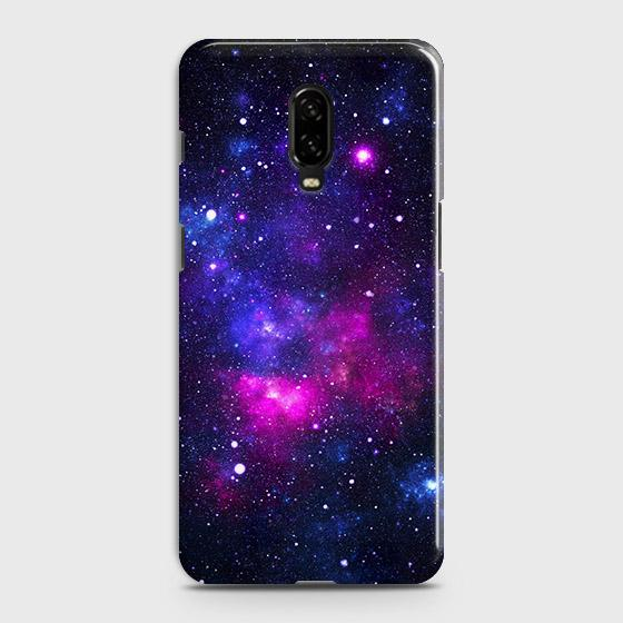 OnePlus 7 Cover - Dark Galaxy Stars Modern Printed Hard Case with Life Time Colors Guarantee