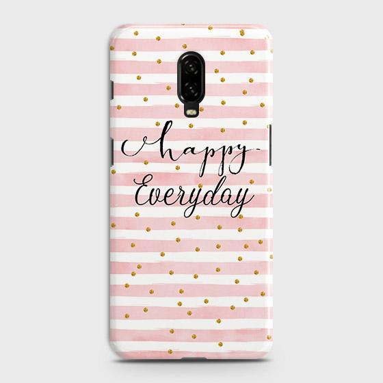 OnePlus 7 Cover - Trendy Happy Everyday Printed Hard Case with Life Time Colors Guarantee