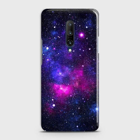 OnePlus 7 Pro Cover - Dark Galaxy Stars Modern Printed Hard Case with Life Time Colors Guarantee