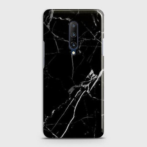 OnePlus 7 Pro Cover - Black Modern Classic Marble Printed Hard Case with Life Time Colors Guarantee