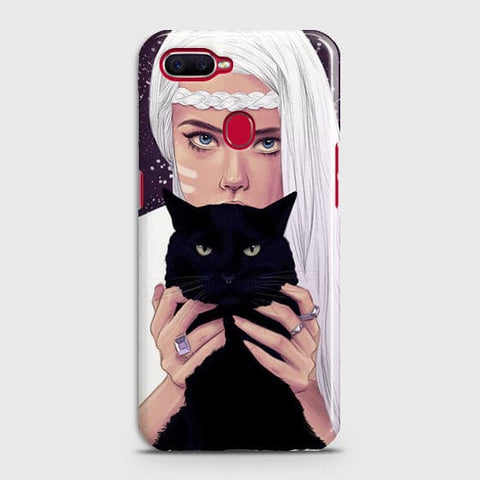 Trendy Wild Black Cat Case For Oppo A7
