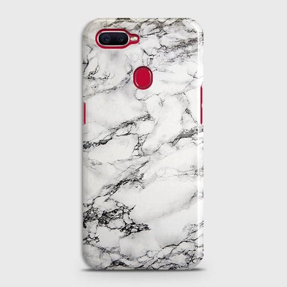 Trendy White Floor Marble Case For Oppo A7