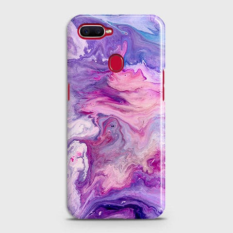 3D Chic Blue Liquid Marble Case For Oppo A7