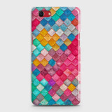 Oppo A1k Cover - Chic Colorful Mermaid Printed Hard Case with Life Time Colors Guarantee