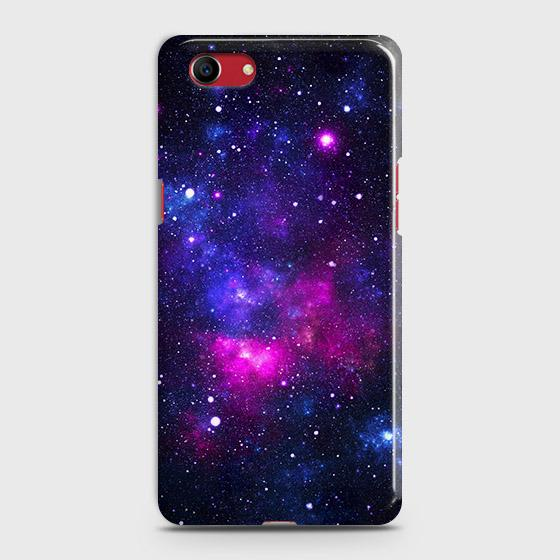 Oppo A1k Cover - Dark Galaxy Stars Modern Printed Hard Case with Life Time Colors Guarantee
