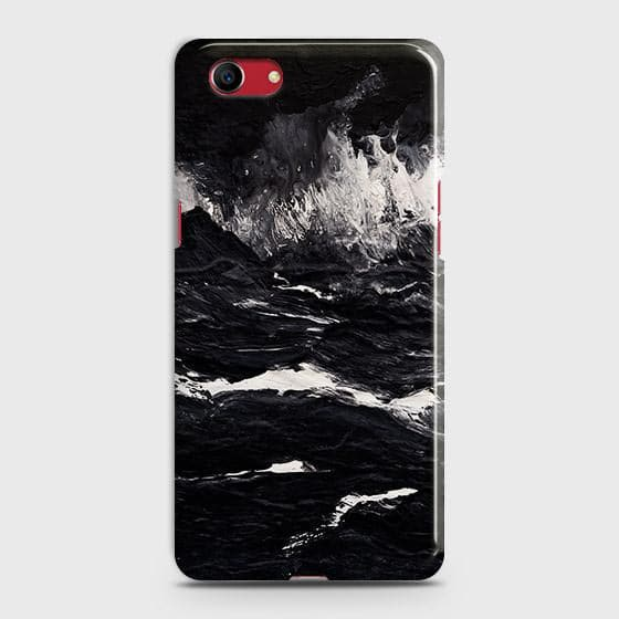 Oppo A1kN Cover - Black Ocean Marble Trendy Printed Hard Case with Life Time Colors Guarantee