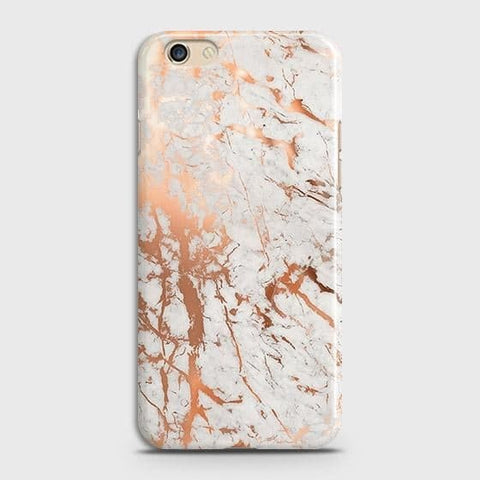 Oppo A59 Cover - In Chic Rose Gold Chrome Style Printed Hard Case with Life Time Colors Guarantee