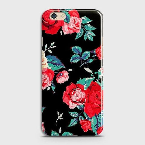 Luxury Vintage Red Flowers Case For Oppo A59