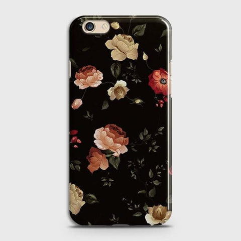 Dark Rose Vintage Flowers 3D Print Case For Oppo A59
