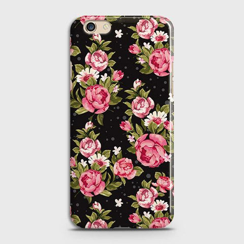 Trendy Pink Rose Vintage Flowers Case For Oppo A59