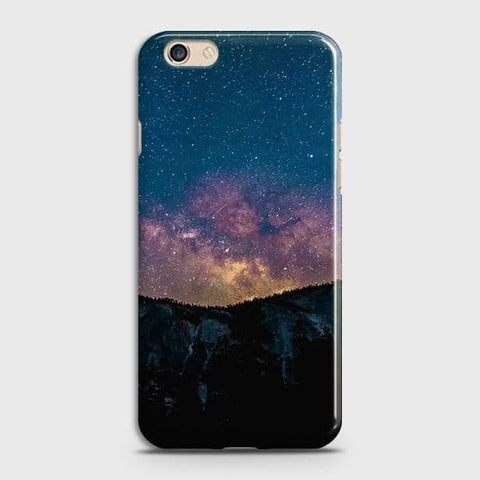 Oppo A59 Cover - Embrace Dark Galaxy  Trendy Printed Hard Case with Life Time Colors Guarantee