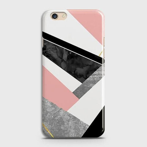 Geometric Luxe Marble Trendy Case For Oppo A59