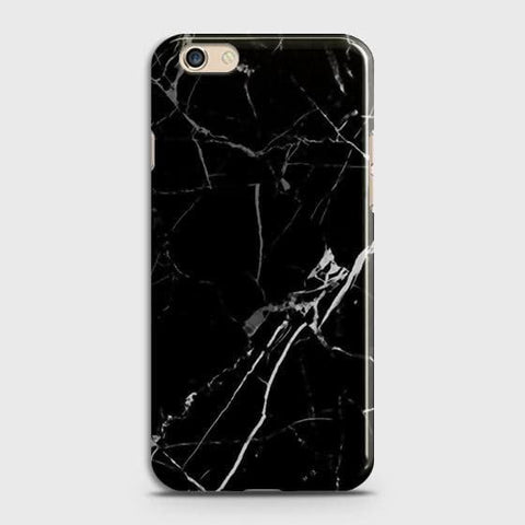 Black Modern Classic Marble Case For Oppo A59