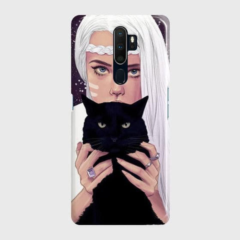 Trendy Wild Black Cat Case For Oppo A5 2020