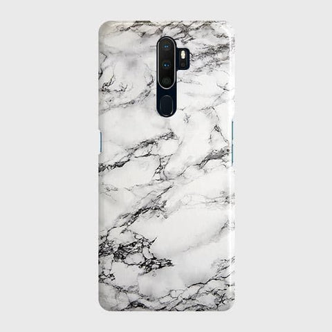 Trendy White Floor Marble Case For Oppo A5 2020