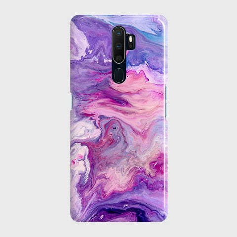 3D Chic Blue Liquid Marble Case For Oppo A5 2020