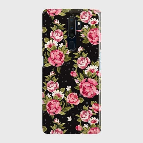 Trendy Pink Rose Vintage Flowers Case For Oppo A5 2020