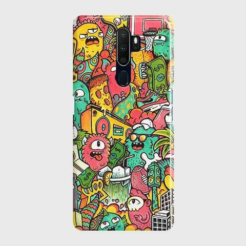Candy Colors Trendy Sticker Bomb Case For Oppo A5 2020