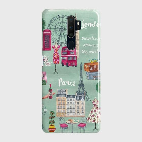 London, Paris, New York Modern Case For Oppo A5 2020