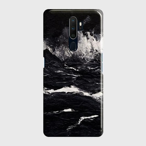 3D Black Ocean Marble Trendy Case For Oppo A5 2020