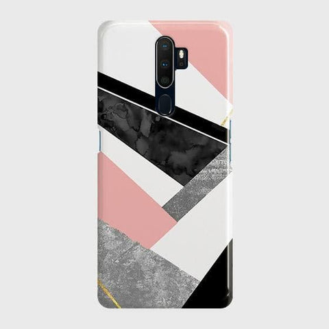 Geometric Luxe Marble Trendy Case For Oppo A5 2020