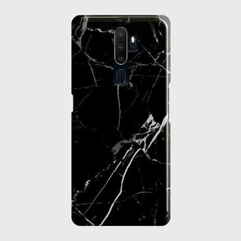 Black Modern Classic Marble Case For Oppo A5 2020