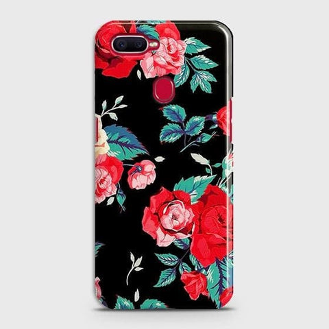 Luxury Vintage Red Flowers Case For Oppo A5s