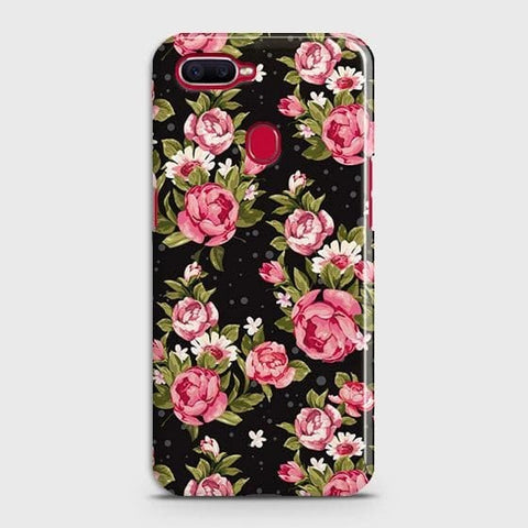 Trendy Pink Rose Vintage Flowers Case For Oppo A5s
