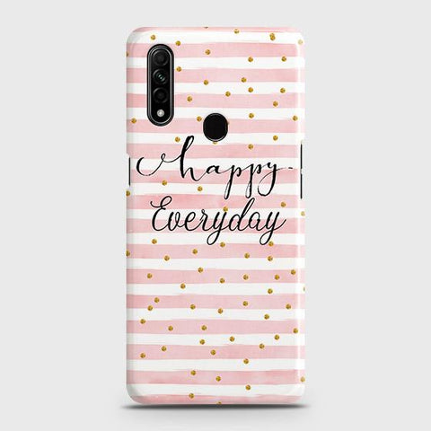 Oppo A8 Cover - Trendy Happy Everyday Printed Hard Case with Life Time Colors Guarantee