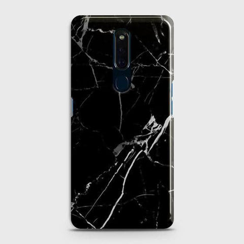 Black Modern Classic Marble Case For Oppo F11