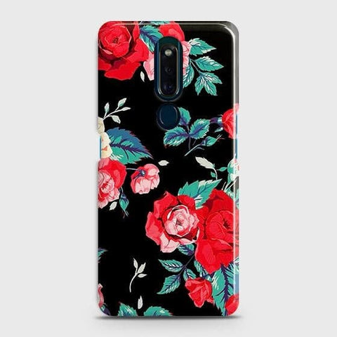 Luxury Vintage Red Flowers Case For Oppo F11 Pro