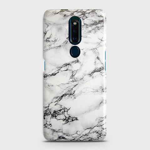 Trendy White Floor Marble Case For Oppo F11 Pro