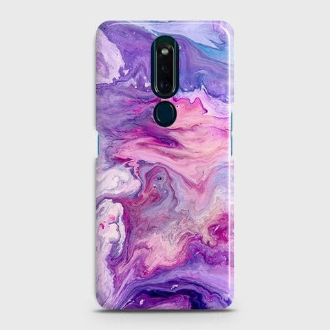 3D Chic Blue Liquid Marble Case For Oppo F11 Pro