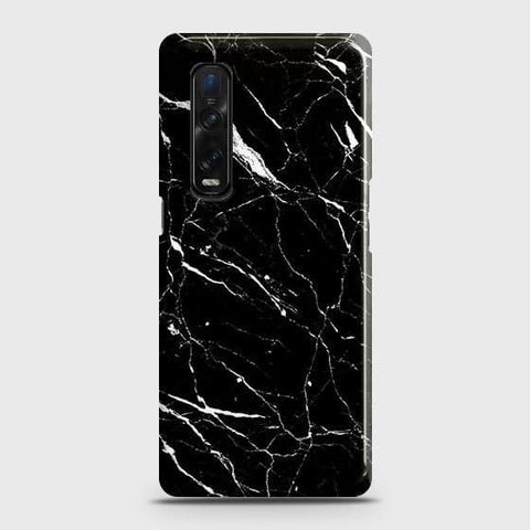 Oppo Find X2 Pro Cover - Trendy Black Marble Printed Hard Case with Life Time Colors Guarantee