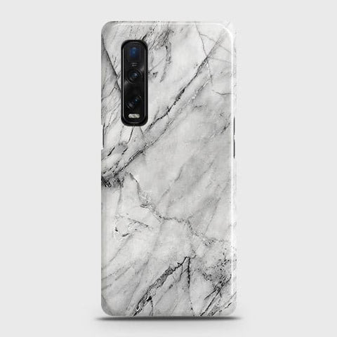 Oppo Find X2 Pro Cover - Trendy White Marble Printed Hard Case with Life Time Colors Guarantee