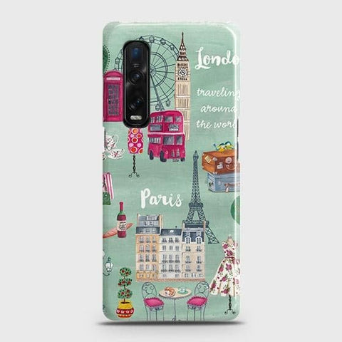 Oppo Find X2 Pro Cover - London, Paris, New York ModernPrinted Hard Case with Life Time Colors Guarantee