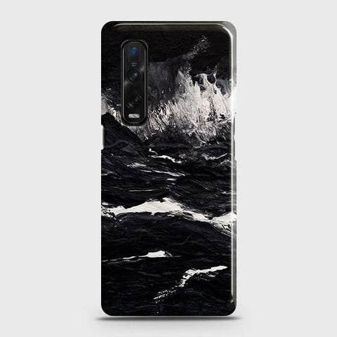 Oppo Find X2 Pro Cover - Black Ocean Marble Trendy Printed Hard Case with Life Time Colors Guarantee