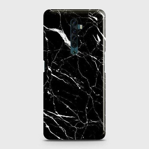 Trendy Black Marble Snap On Case For Oppo Reno2