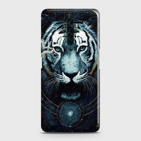 Vintage Galaxy 3D Tiger Snap On Case For Oppo Reno2