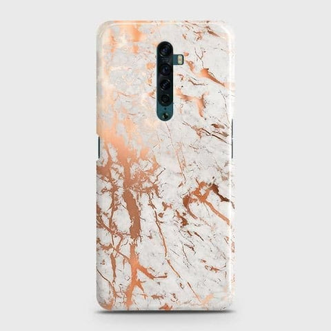 Oppo Reno 2 Cover - In Chic Rose Gold Chrome Style Printed Hard Case with Life Time Colors Guarantee