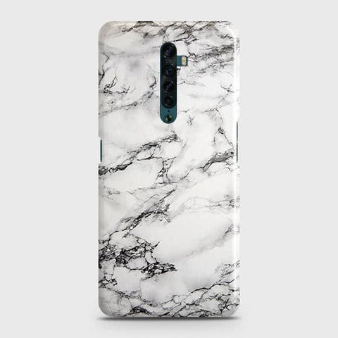Trendy White Floor Marble Snap On Case For Oppo Reno2
