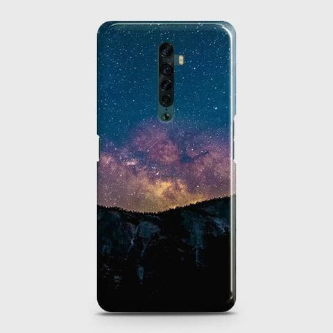 Oppo Reno 2 Cover - Embrace Dark Galaxy  Trendy Printed Hard Case with Life Time Colors Guarantee