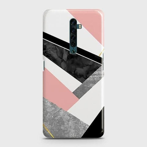 Geometric Luxe Marble Trendy Snap On Case For Oppo Reno2
