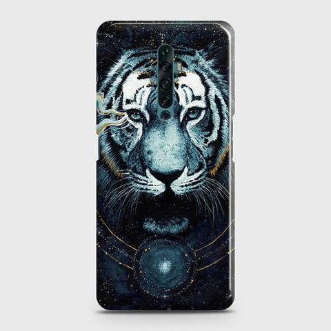 Oppo Reno 2Z Cover - Vintage Galaxy Tiger Printed Hard Case with Life Time Colors Guarantee