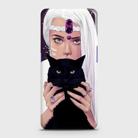 Trendy Wild Black Cat Case For Oppo Reno