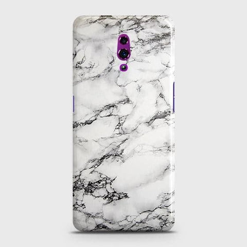 Trendy White Floor Marble Case For Oppo Reno