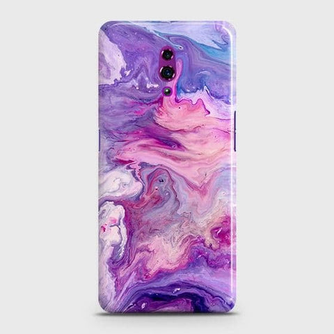 3D Chic Blue Liquid Marble Case For Oppo Reno