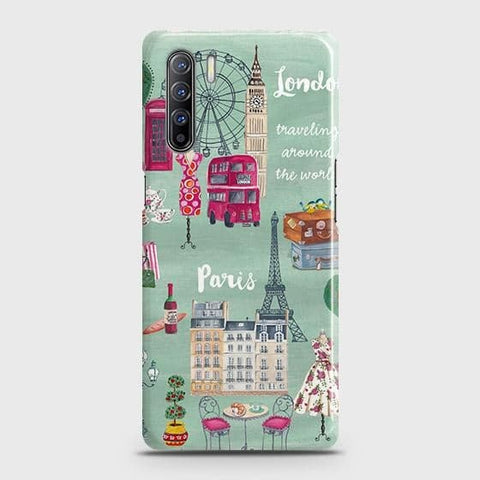 Oppo Reno 3 Cover - London, Paris, New York ModernPrinted Hard Case with Life Time Colors Guarantee